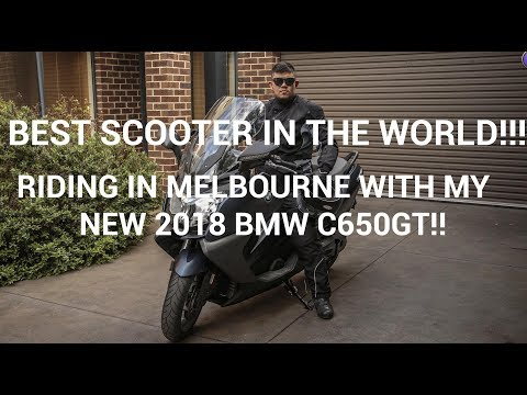 Cruising from Melbourne CBD to Camberwell with my 2018 BMW C650GT