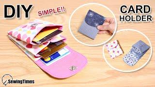 DIY SIMPLE CARD HOLDER | Card Wallet Easy Tutorial [sewingtimes]