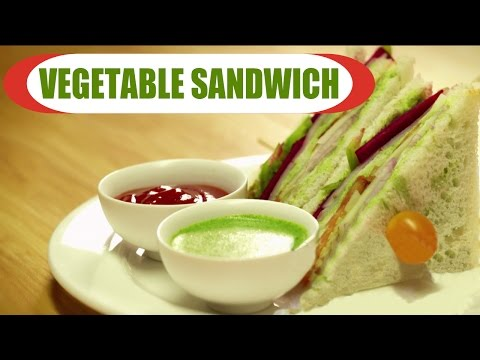 Vegetable Sandwich | Healthy Breakfast Recipe | Quick And Easy | Vegetarian Recipes