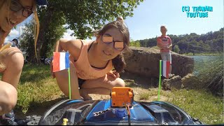 RC CAR FPV VIDEO GAG PRANKS - TRAXXAS X-MAXX CAM ONBOARD EURO 2016