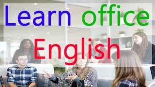 Learn English for office - Business English in Hindi / Urdu