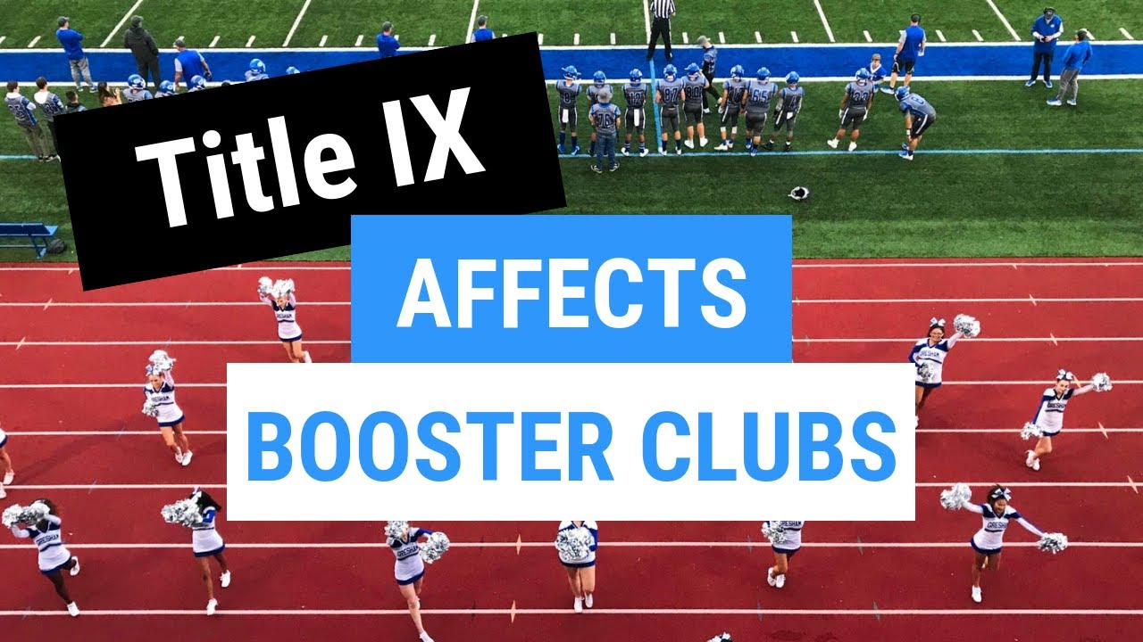 Title IX - Even for Booster Clubs