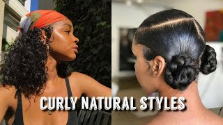 SLAYED CURLY HAIRSTYLES ON NATURAL HAIR COMPILATION | BeautyExclusive