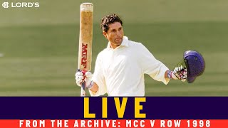 Full Live Stream | MCC v ROW Princess of Wales Memorial Match 1998 | Lord's