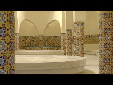 العرب اليوم - شاهد : افتتاح حمَّامات مسجد الحسن الثاني في الدار البيضاء