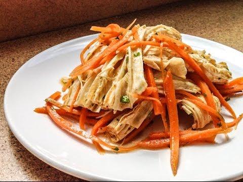 Салат из соевой спаржи и моркови