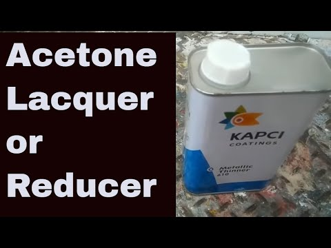 acetone or lacquer thinner instead of urethane reducer will it work