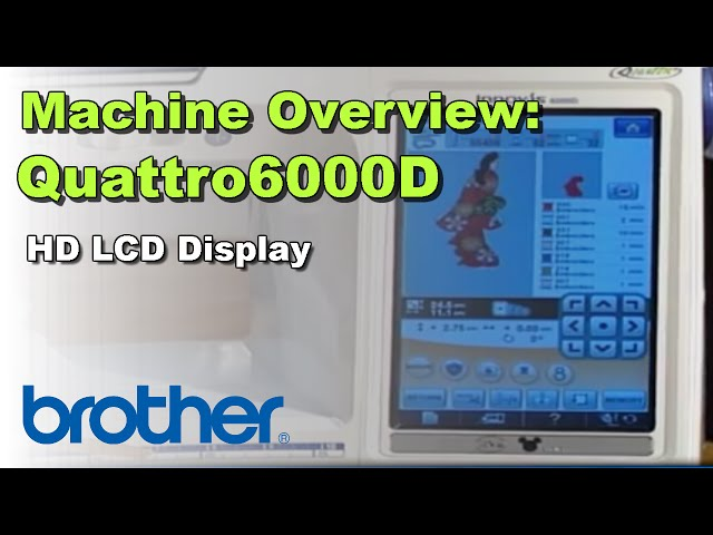 Brother Quattro 40D Sewing And Embroidery Machine New Brother Quattro 6000d Sewing Embroidery And Quilting Machine