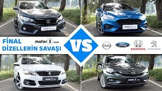 Dizel Otomatik Drag&Rolling Yarışı!   Opel Astra vs. Peugeot 308 vs. Honda Civic vs. Ford Focus