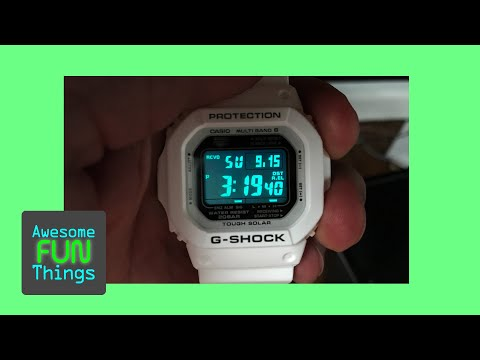 Why Japan is Awesome! G-Shock Numbers Glow (not the background!)