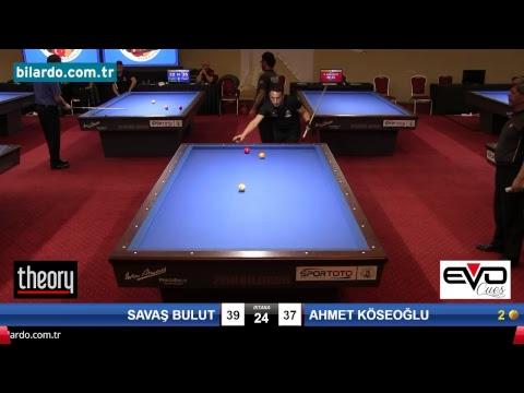 SAVAŞ BULUT & AHMET KÖSEOĞLU Bilardo Maçı - 2018 - TÜRKİYE 1.LİGİ-Çeyrek Final