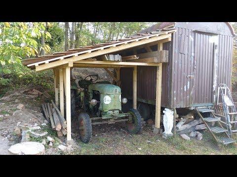 Treckerunterstand, Carport, Gartenhaus selber konstruieren und bauen
