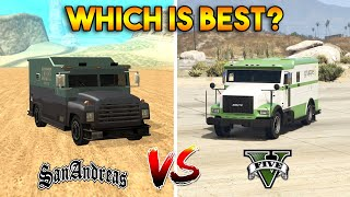 GTA 5 STOCKADE VS GTA SAN ADNREAS SECURICAR (WHICH IS BEST?)