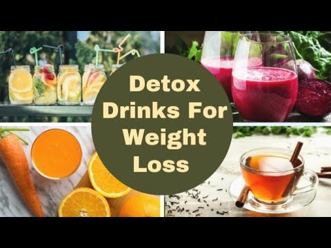 5 Best Detox Drinks for weight loss. Drink these amazing detox drinks to lose weight fast.
