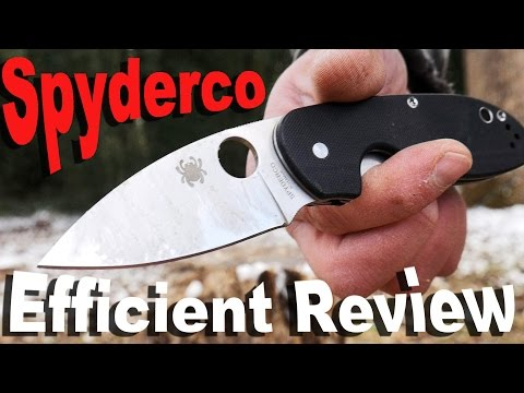 Spyderco Efficient Pocket Knife Review.  A more compact Tenacious killer?