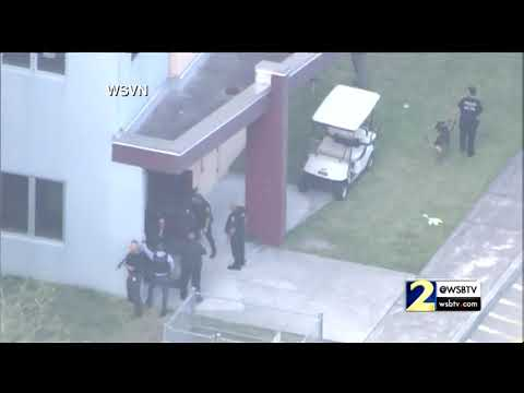 RAW VIDEO: Police search buildings following Florida high school shooting