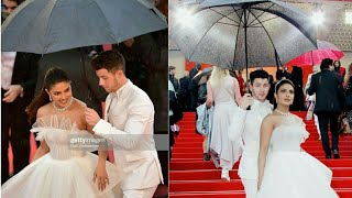 Nick Jonas Holds The Umbrella For Priyanka Chopra At Cannes Red Carpet | Cannes 2019 | Nickyanka