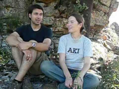 Con Silvia Redaelli y Daniel Balsera en Cabañas del Castillo, Las Villuercas, Cáceres