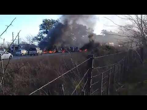 Video. Tensión por un corte en Ruta 11 y 610