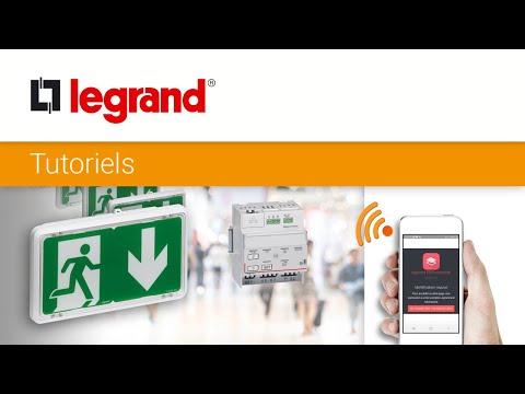 Comment configurer l'éclairage de sécurité connecté Legrand avec la Web App ERPconnecté ?