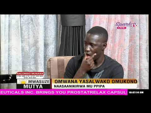 Mwasuze Mutya: Omwana yasalwako omukono, naasaanikirwa mu ppipa
