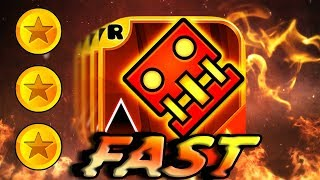FAST Geometry Dash Meltdown All Levels 1-3 100% Completed [All Coins]
