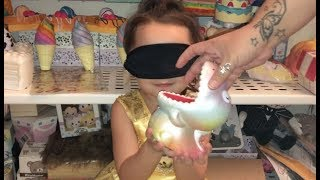 3 YEAR OLD DOES THE BLINDFOLDED SQUISHY CHALLENGE!