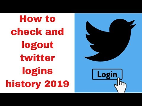How to check and logout twitter logins history 2019