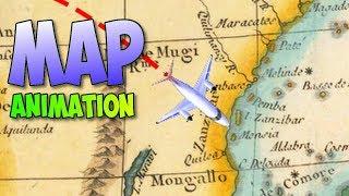 Travel map animation tutorial in Davinci Resolve (Indiana Jones style)