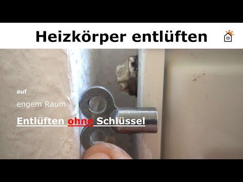 Heizkörper entlüften ohne Schlüssel