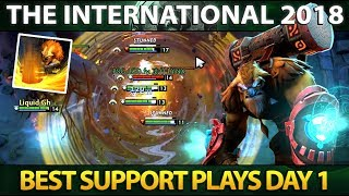 Best Support Plays of Day 1 - The International 2018 - Dota 2 #TI8