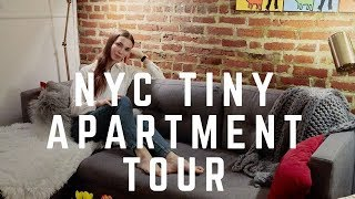 NYC Apartment Tour - Tiny Chic Industrial One Bedroom In Manhattan
