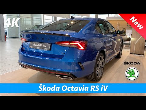 Škoda Octavia RS iV 2021 - FIRST Quick look in 4K | Exterior - Interior (Race Blue Metallic) PHEV