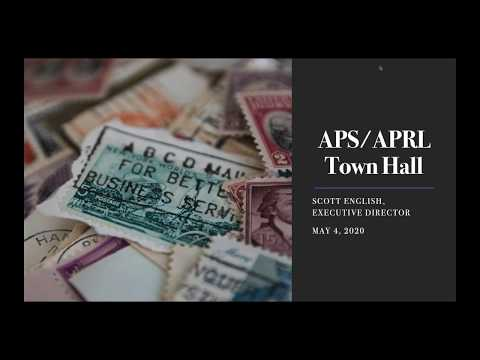 APS APRL Town Hall May 4, 2020