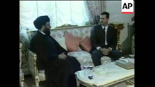 SYRIA: BASHAR AL-ASSAD MEETING NASRALLAH