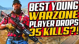 12 Year Old Drops 35 Kill Warzone Win! Reacting To The Best Young COD Player In The World?