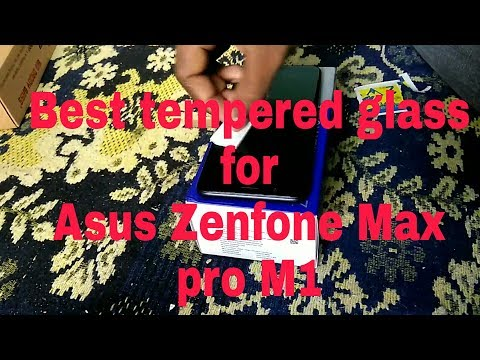 Asus Zenfone Max Pro M1 Tempered glass application or install