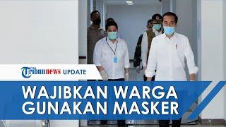 Jokowi Wajibkan Warga Gunakan Masker Saat di Luar Rumah