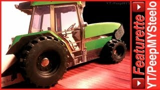 Toy Farm Vehicles Book w/ Utility Equipment Sets Like Skid Loaders & Tractor Trucks Toys For Kids