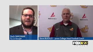 Jones College's head football coach discusses how pandemic has affected season