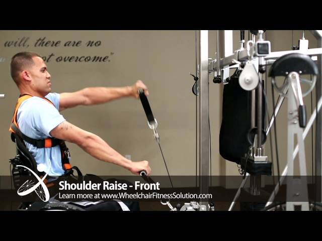 Wheelchair Fitness Solution | Exercise: Shoulder Raise – Front (17 fo 40)