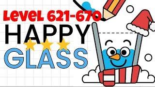 Happy Glass Levels 621-670. 3 Stars Walkthrough | All Levels Guide