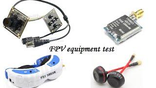 FPV equipment test - Sony 960H CCD Effio-V 800TVL cam - TS5823 5.8G 200mw 32CH Super Mini VTX