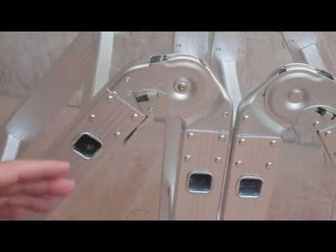 Escalera Multiproposito Articulada FINETHER. Tijera 1.80m; Sencilla 3.60 m. Banco albañil 1m.