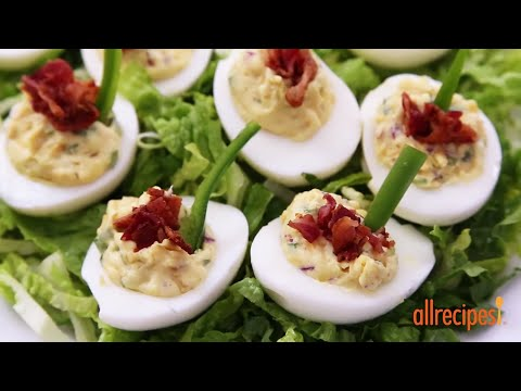Appetizer Recipes – How to Make Jalapeno Bacon Cheddar Deviled Eggs