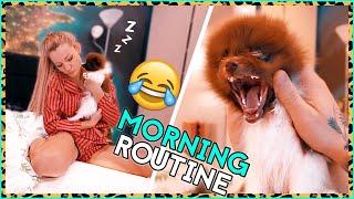 Morning Routine z NASZYM PIESKIEM 😂🐕.vlog