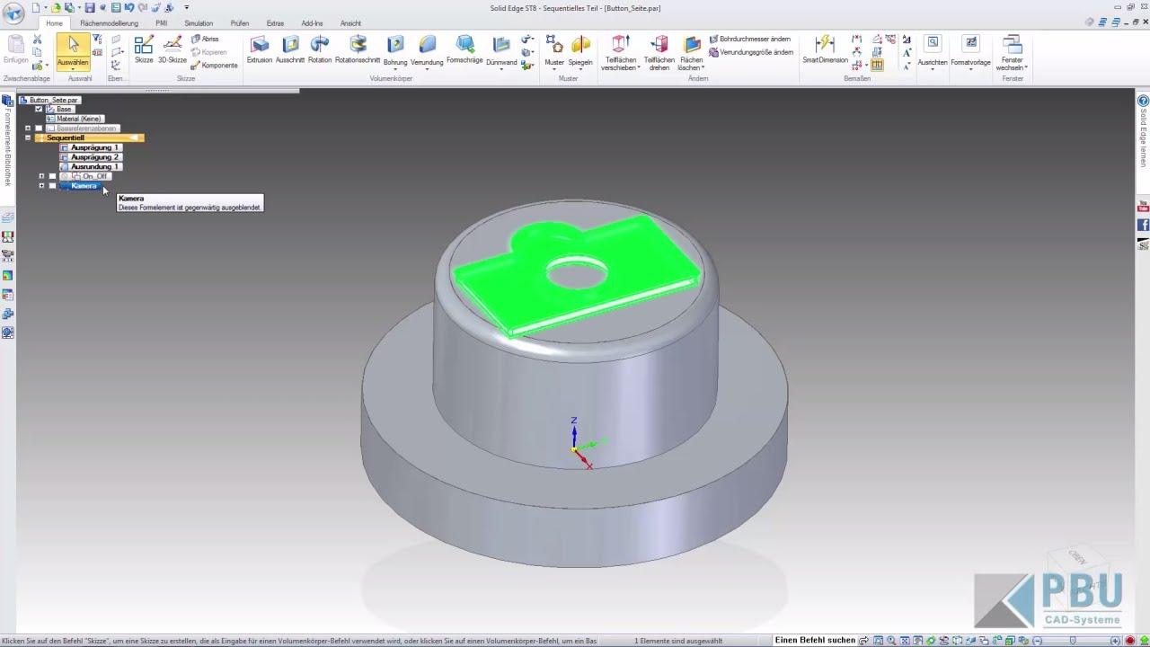 Vorschaubild: Solid Edge: Variantenkonstruktion und Parametrisierung