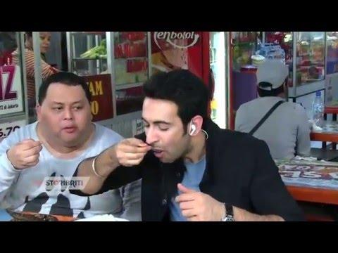 Video Nino Ajak Nandish Sandhu Makan-makanan Khas Indonesia