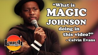 """""""What is Magic Johnson doing in this video?"""" (Calvin Evans)"""
