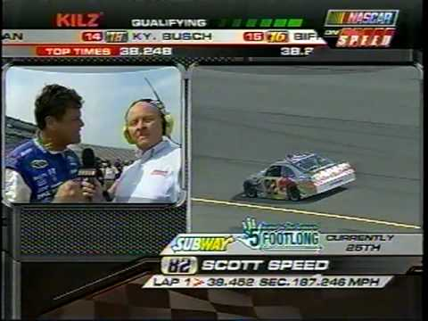 Larry Mac As A Funny Pit Road Reporter at MIS 2010